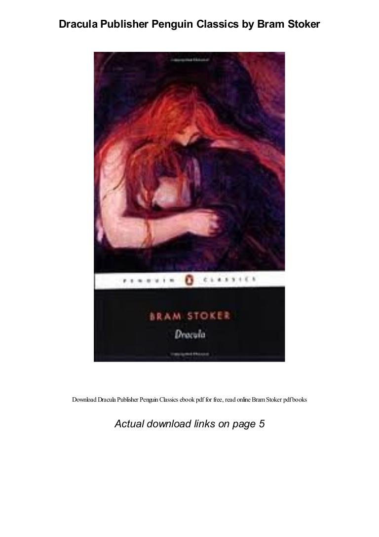 Dracula Bram Stoker Pdf Penguin Readers