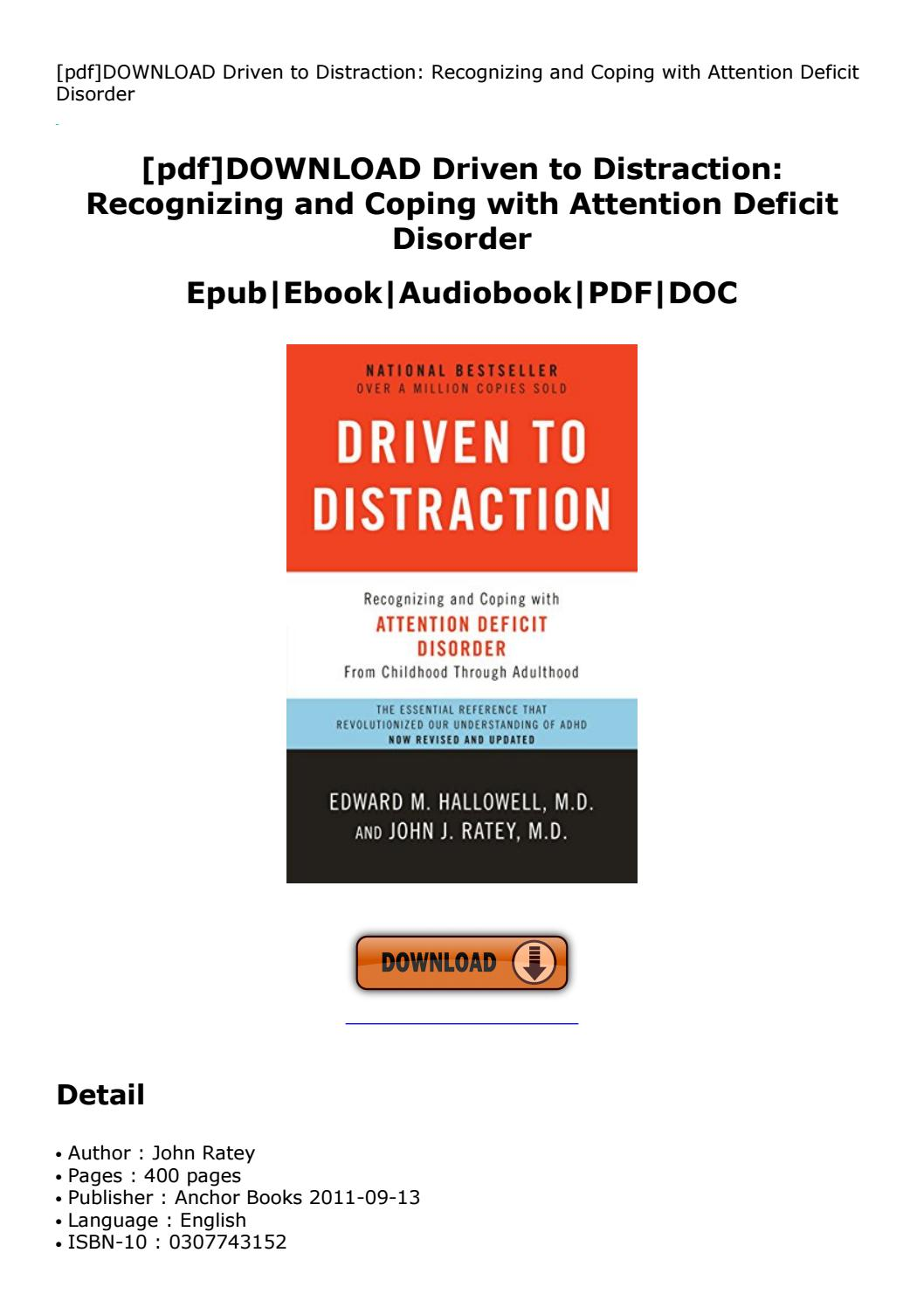 Driven To Distraction Pdf Download