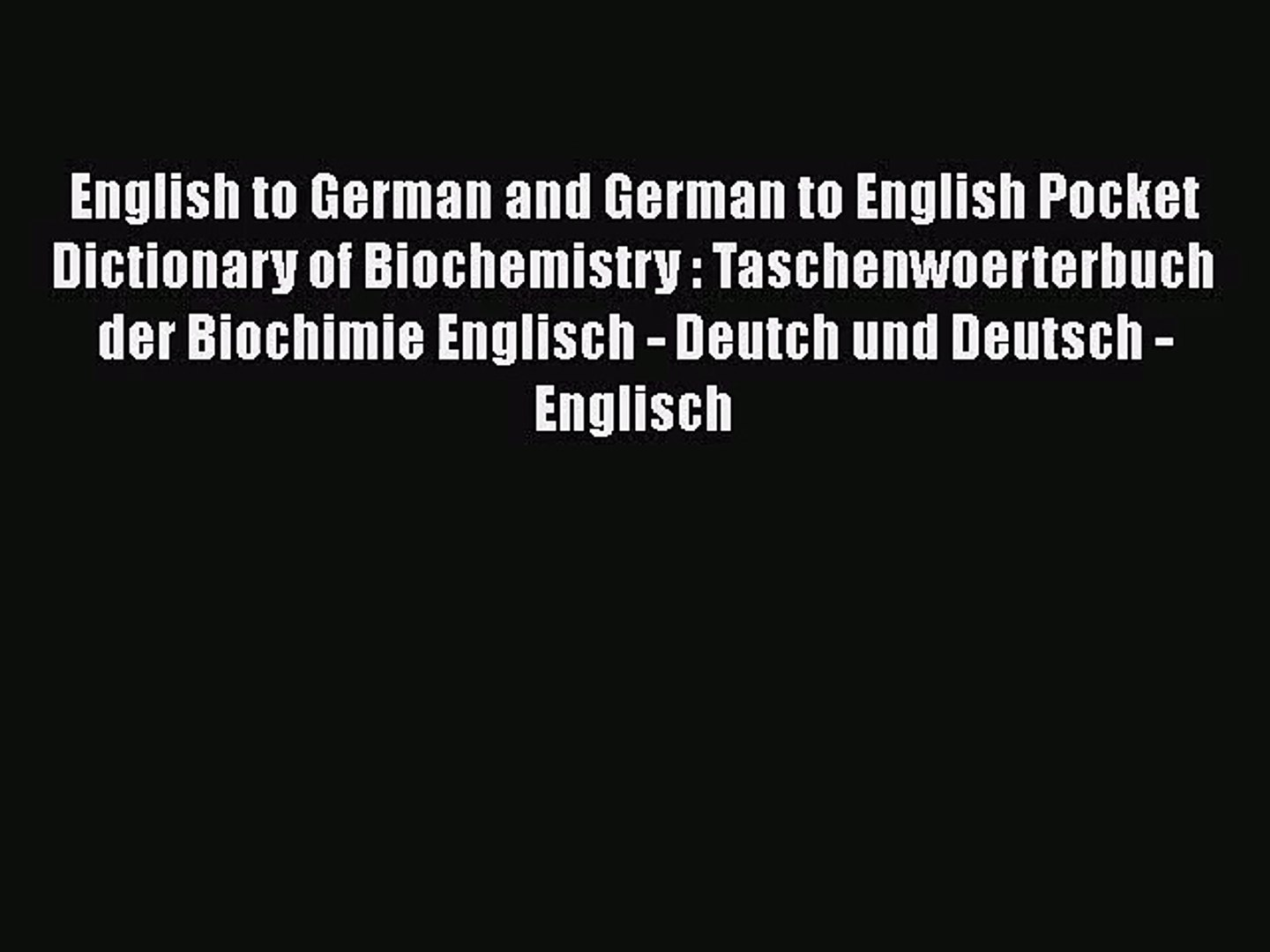 English To German Dictionary Pdf