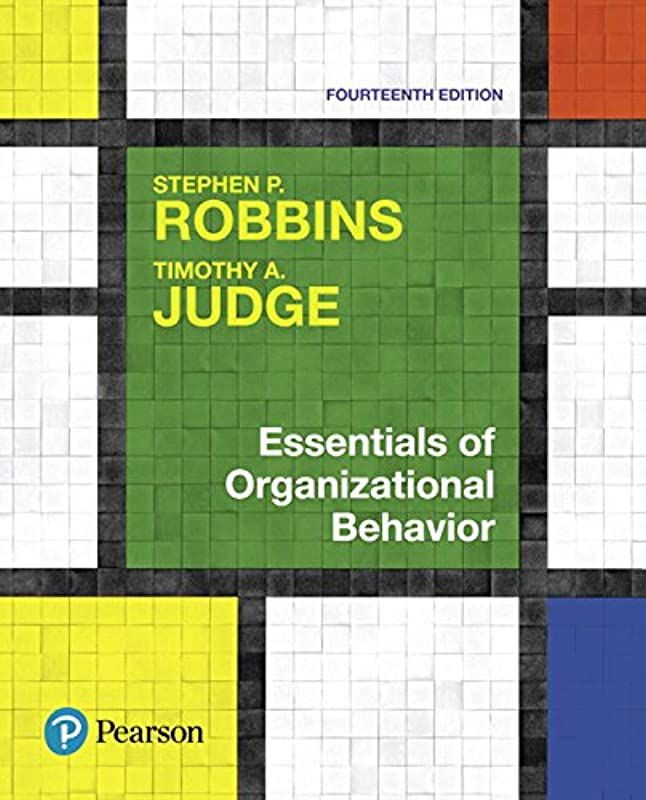 Essentials Of Organizational Behavior 14th Edition Pdf