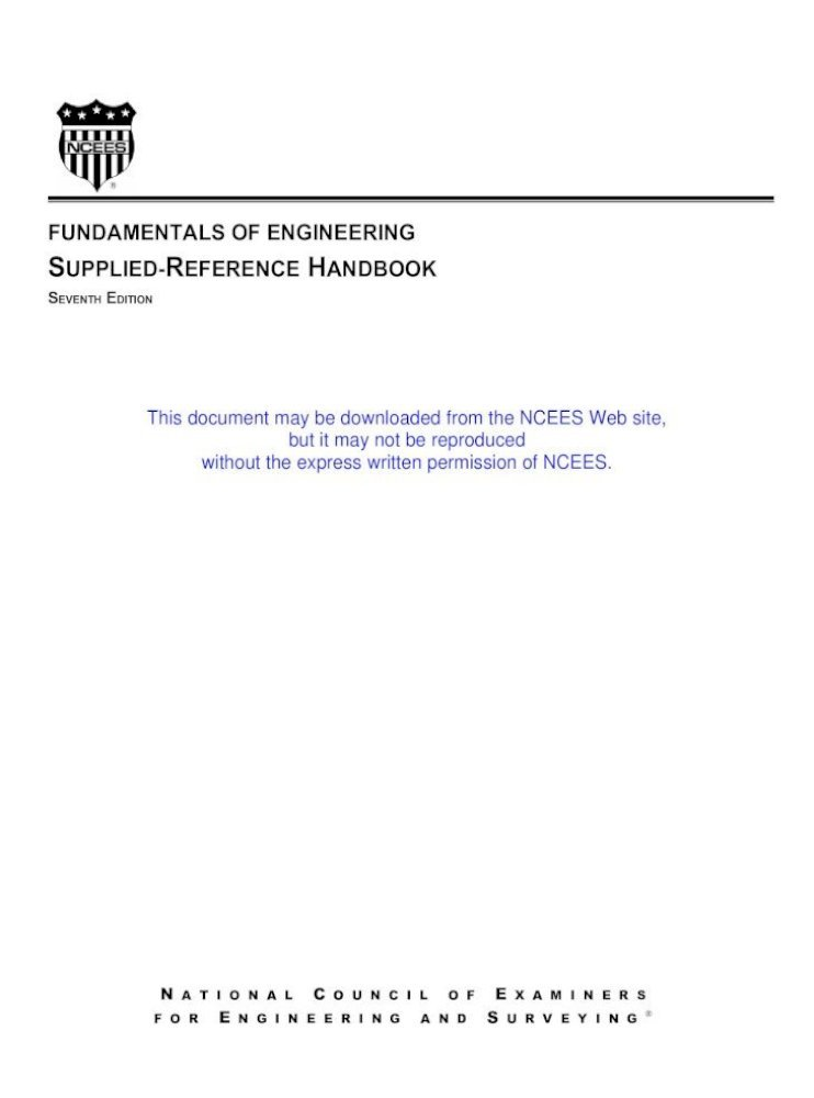 Fe Reference Handbook Pdf