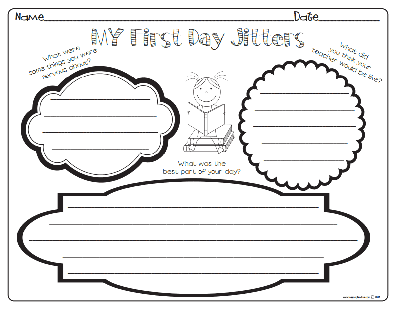 First Day Jitters Activities Pdf