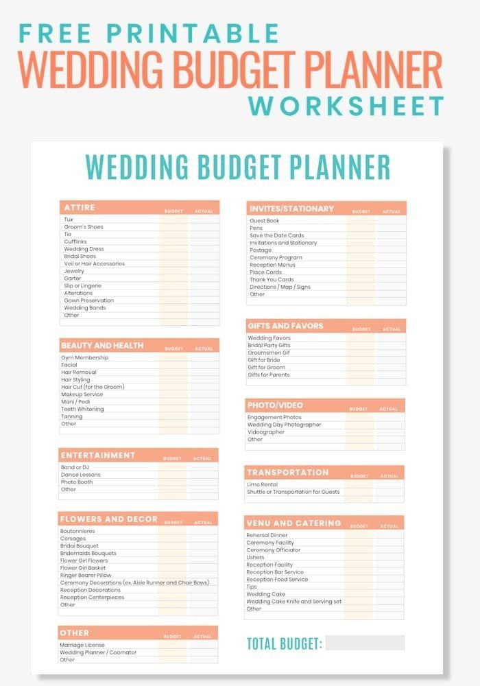 Free Printable Wedding Planner Pdf