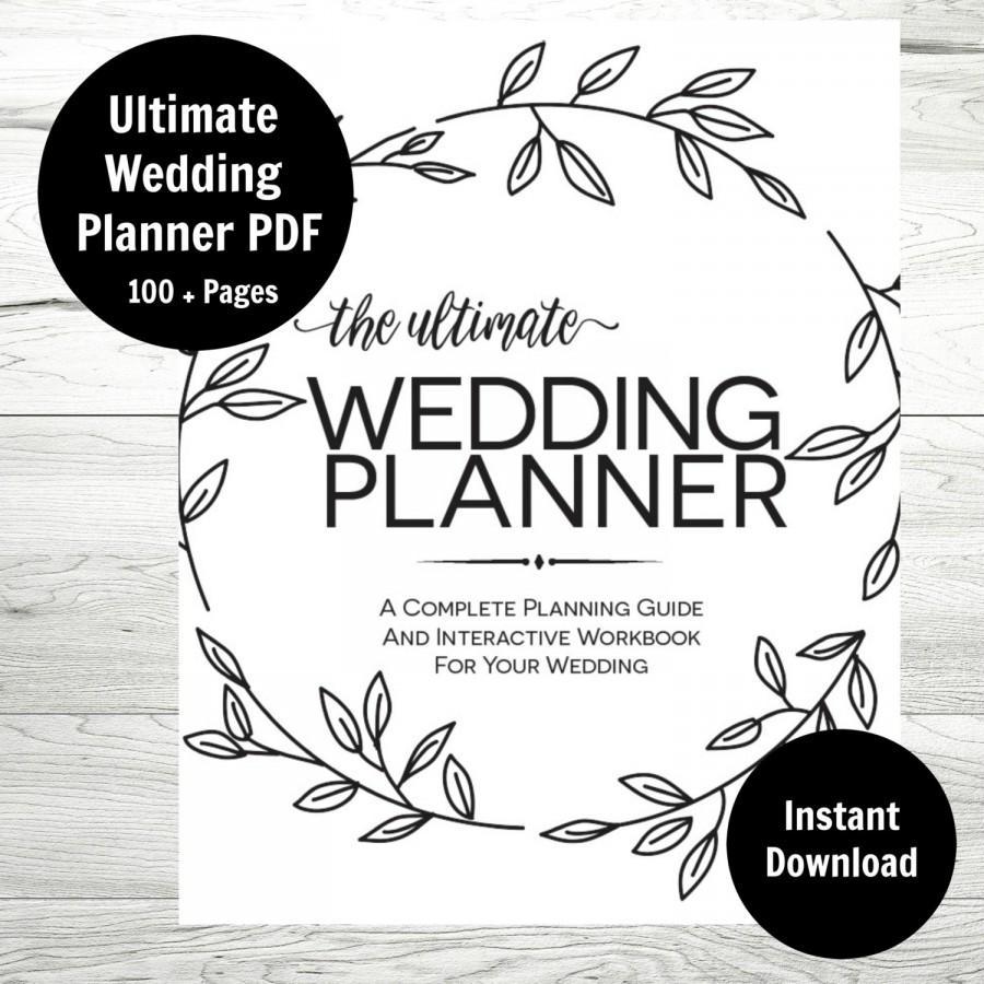 Free Printable Wedding Planner Workbook Pdf