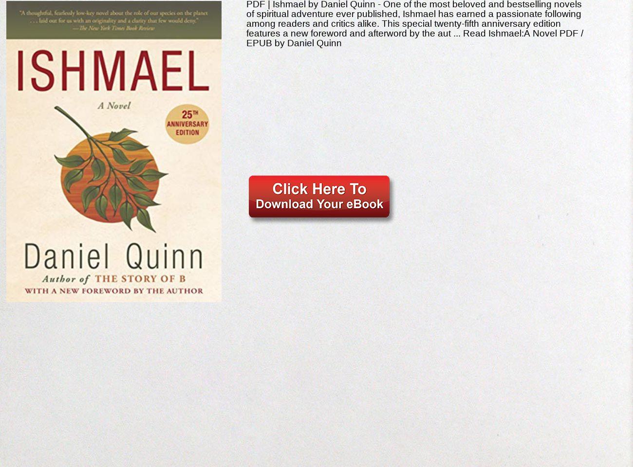 Ishmael Daniel Quinn Pdf