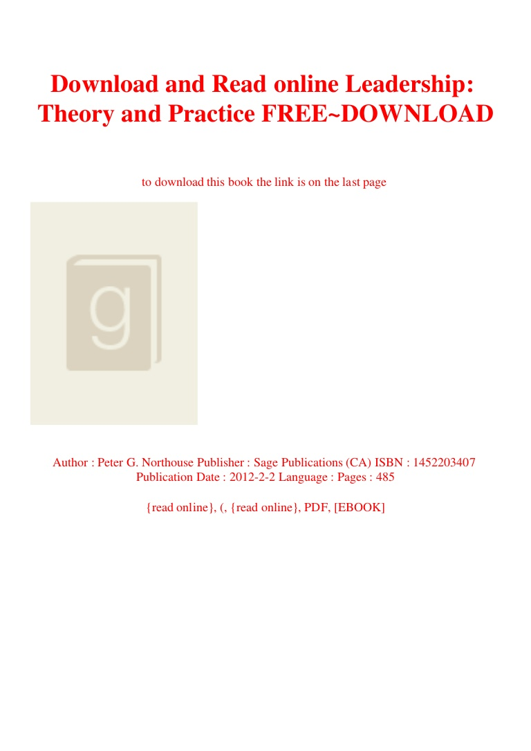 Leadership Theory And Practice 7th Edition Pdf Free Download