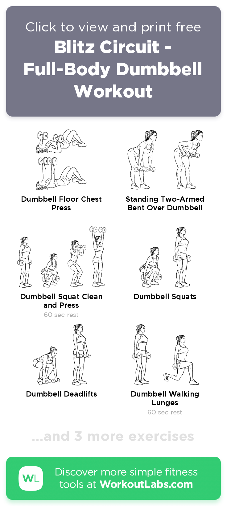Man Full Body Dumbbell Workout Pdf