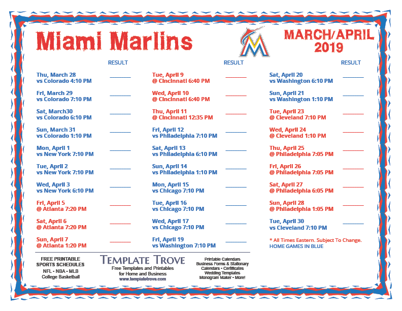 Mets 2019 Schedule Pdf