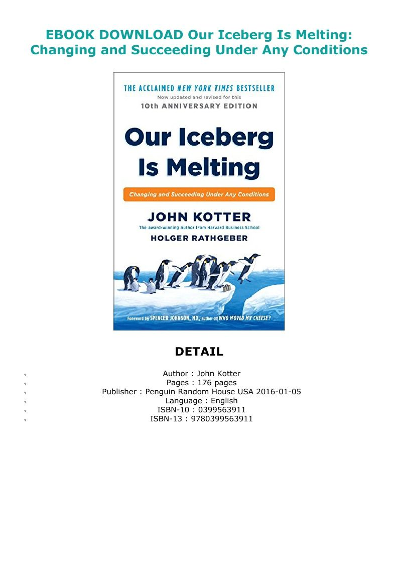 Our Iceberg Is Melting Pdf Download