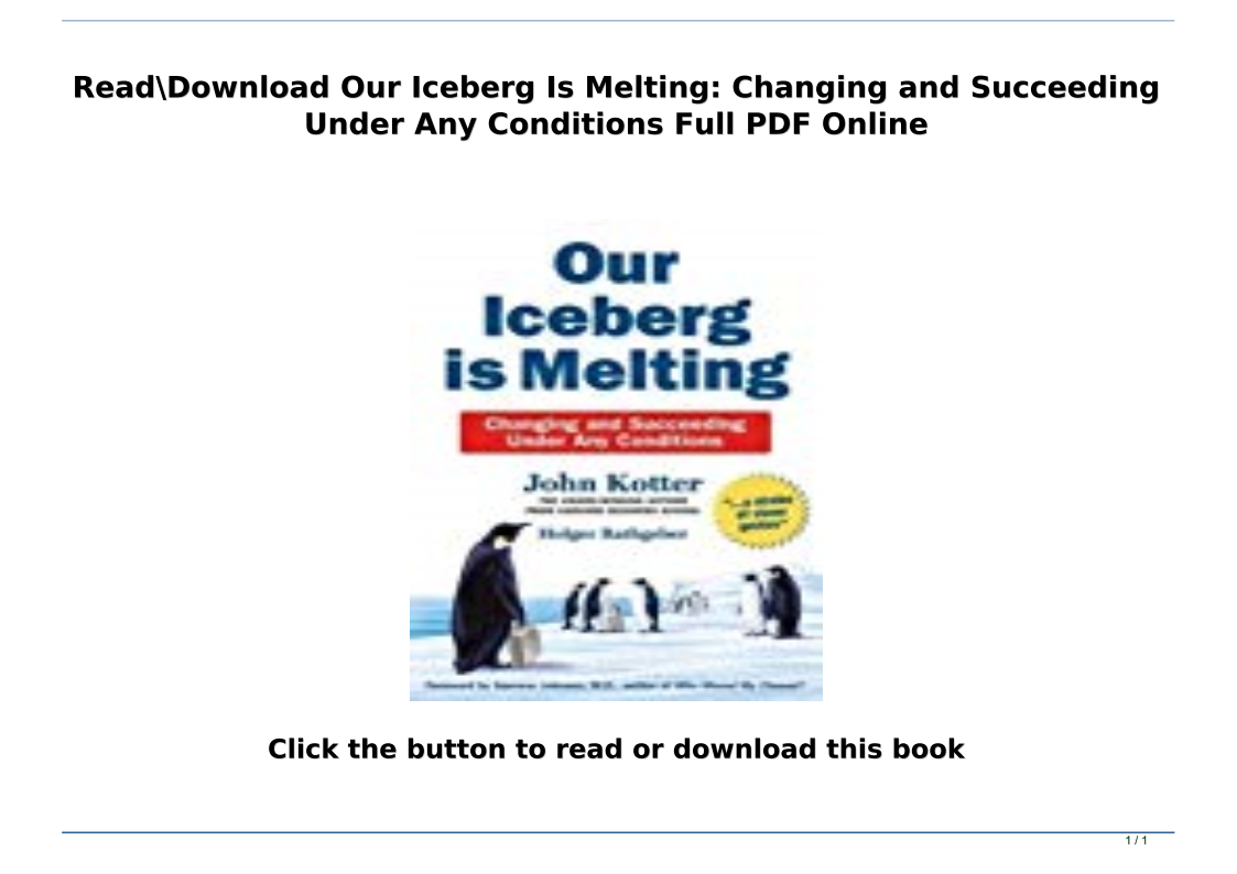 Our Iceberg Is Melting Pdf