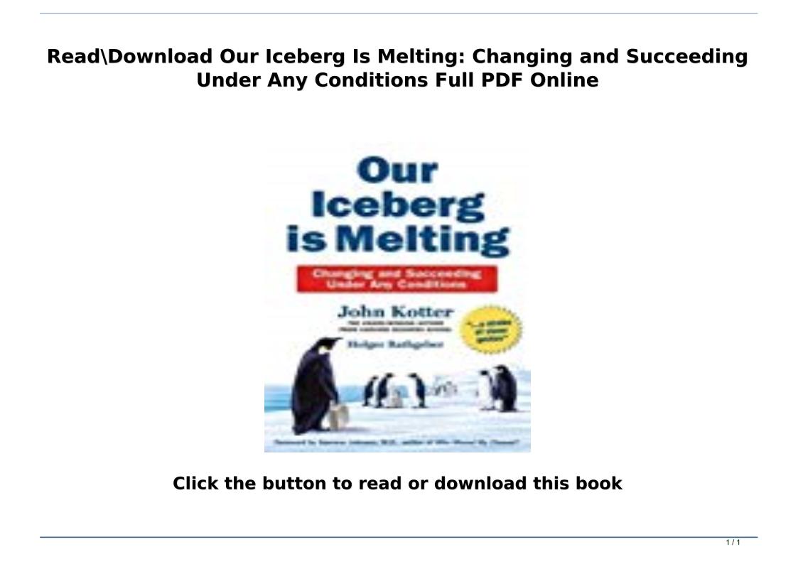 Our Iceberg Is Melting Pdf