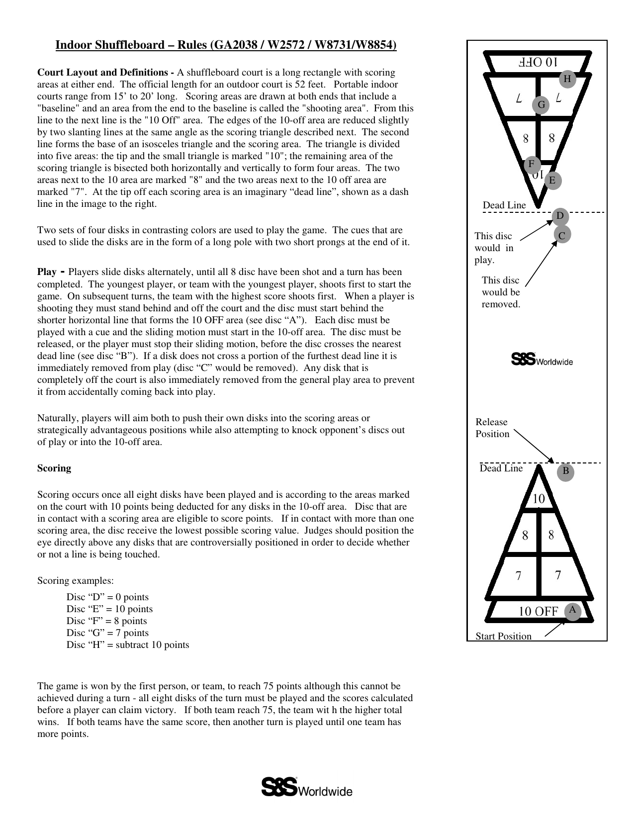 Outdoor Shuffleboard Rules Pdf