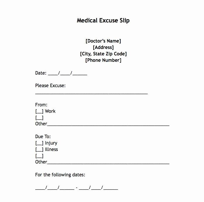 Pdf Printable Doctors Note For Work