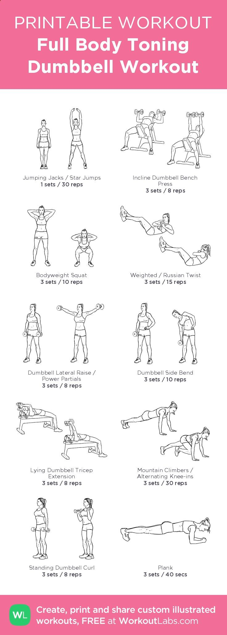 Printable Full Body Dumbbell Workout Pdf