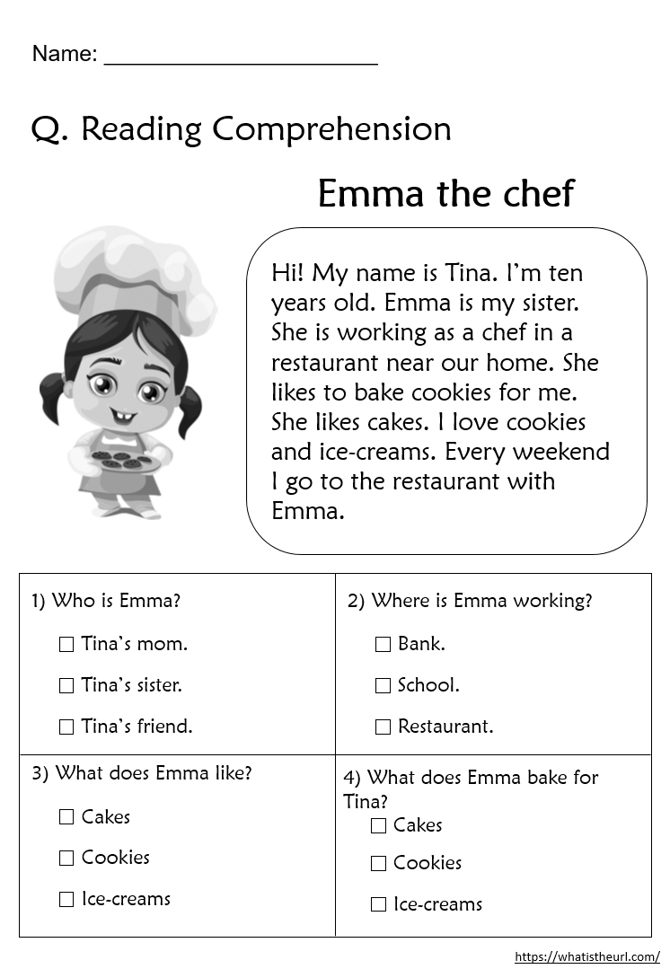Printable Grade 2 Reading Comprehension Pdf