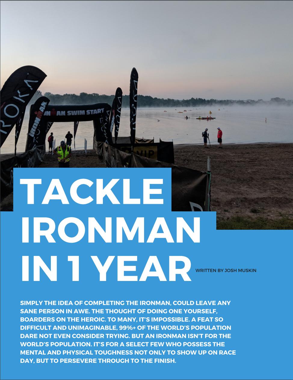1 Year Ironman Training Plan Pdf