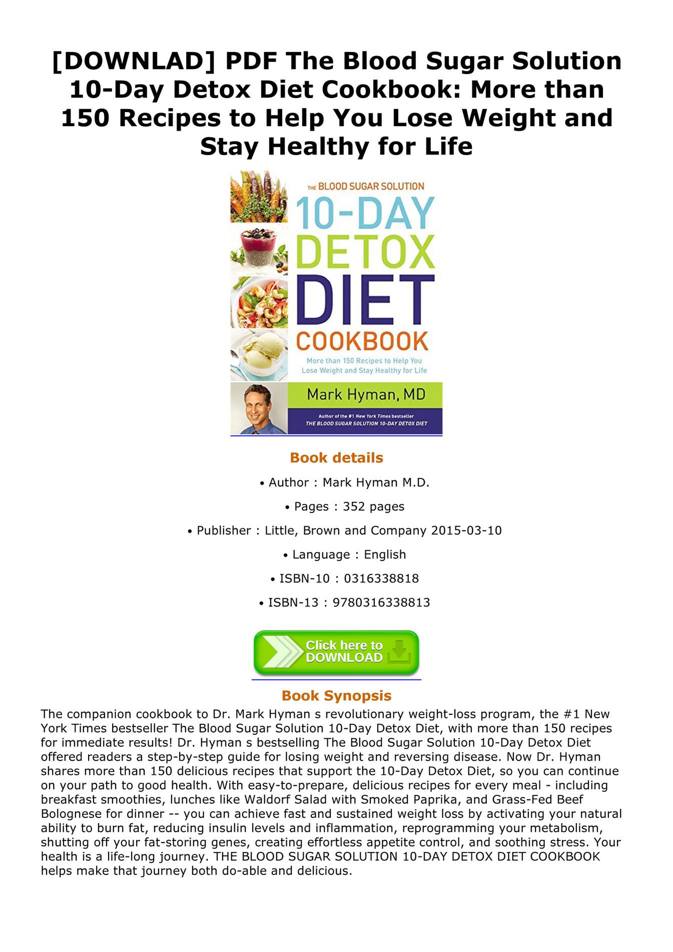 10 Day Detox Diet Pdf