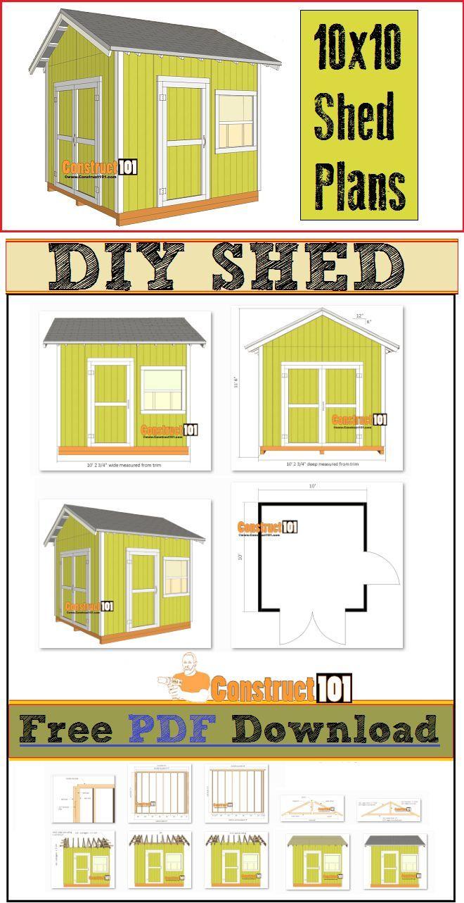 10x10 Shed Plans Pdf
