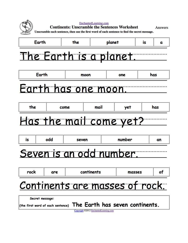 1st Grade Sentence Structure Worksheets Pdf