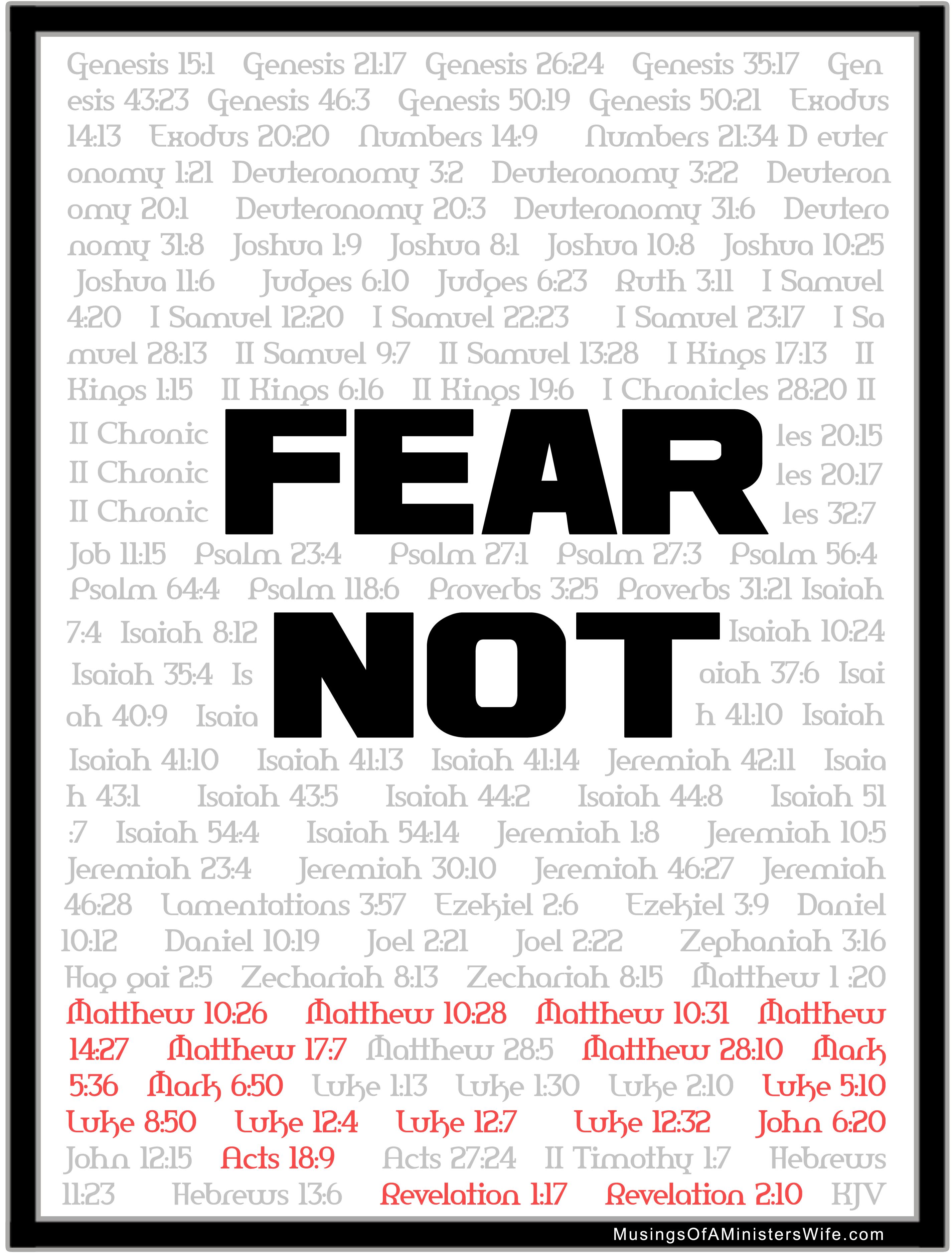 365 Fear Nots In The Bible Pdf
