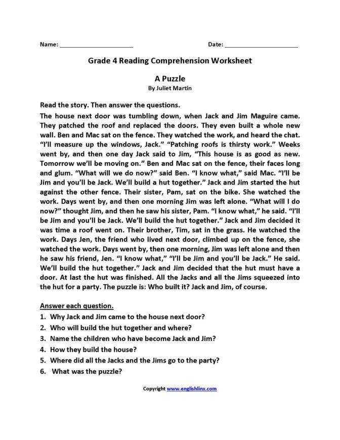 4th Grade Essay Writing Worksheets Pdf