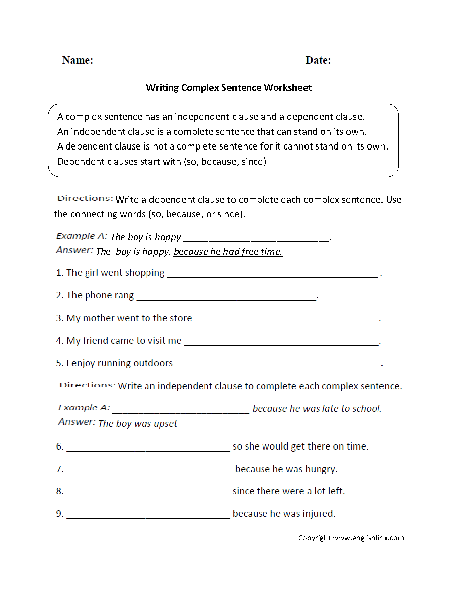 5th Grade Sentence Structure Worksheets Pdf