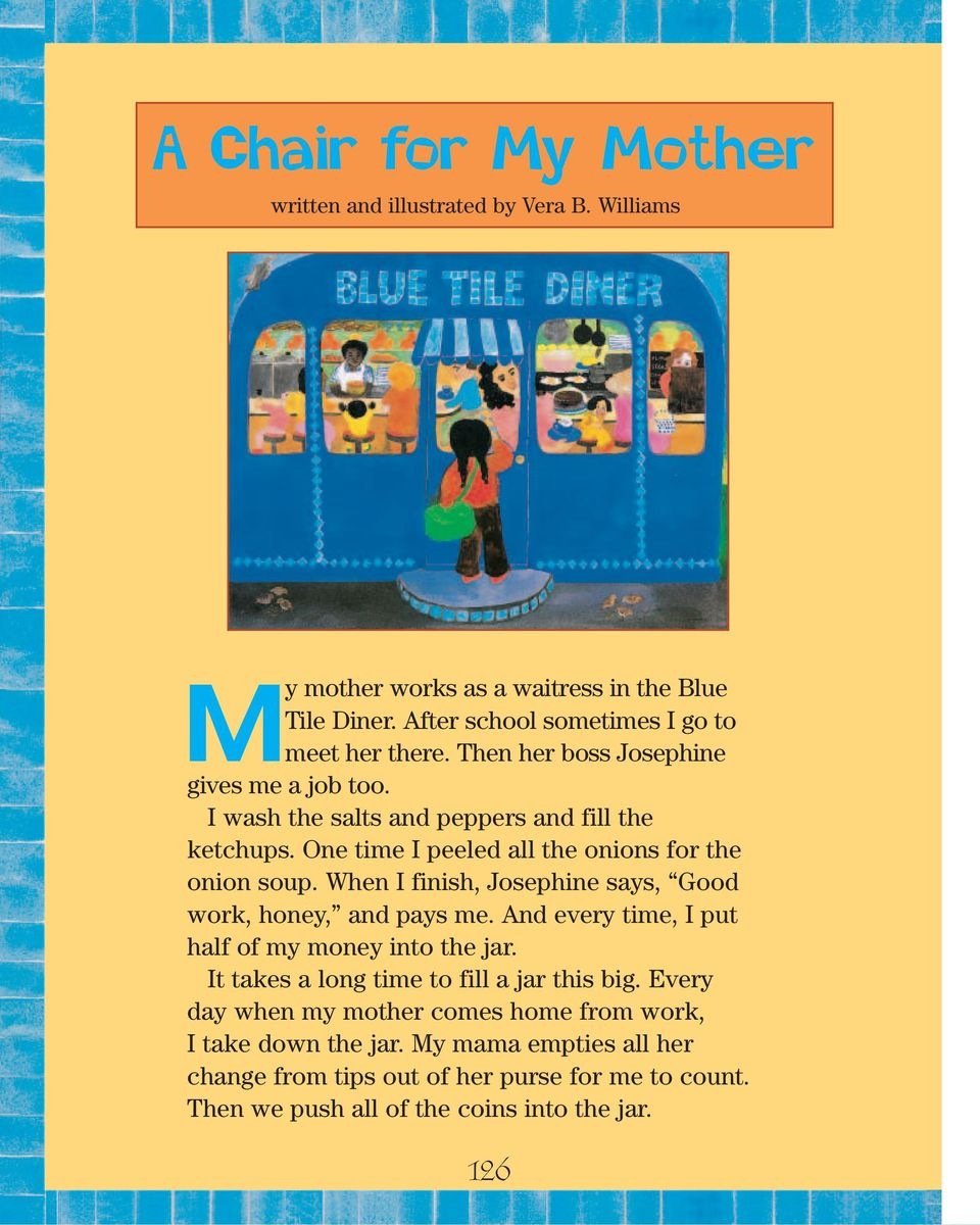 A Chair For My Mother Activities Pdf