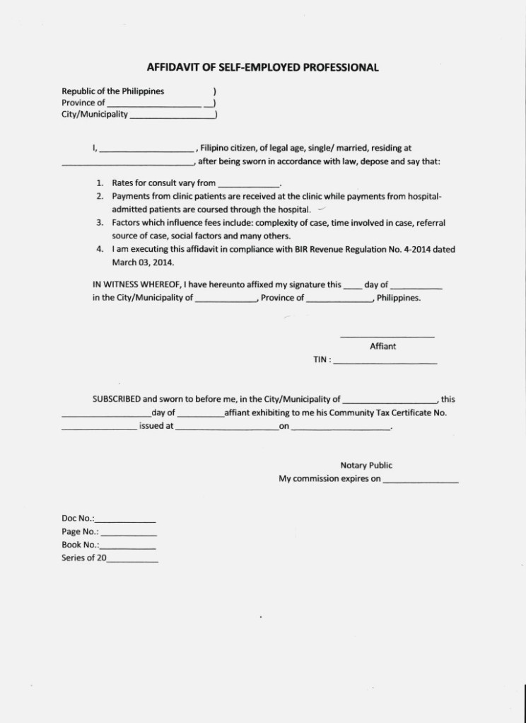 Affidavit Of Bona Fide Marriage Sample Pdf
