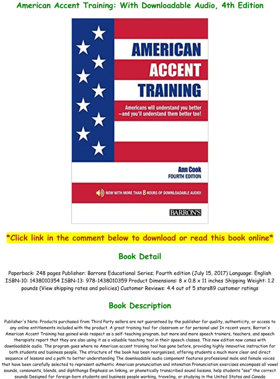 American Accent Training Pdf With Audio
