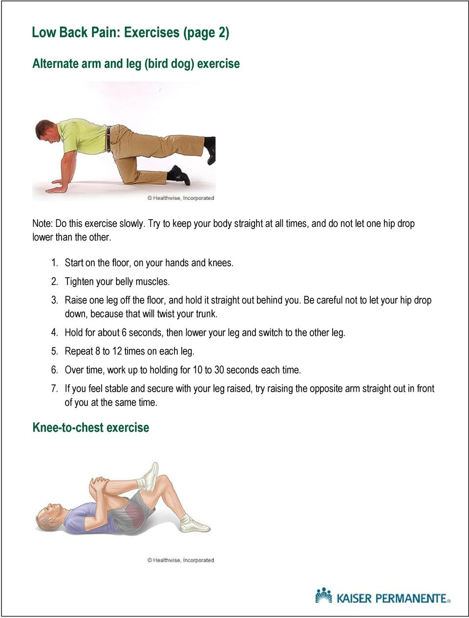 Ankle Sprain Exercises Pdf Kaiser
