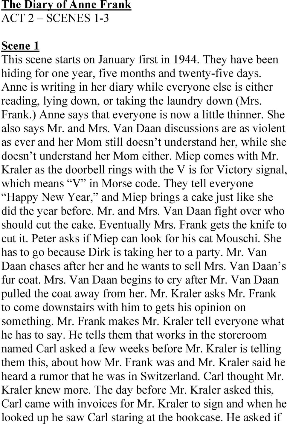 Anne Frank Play Pdf Act 2