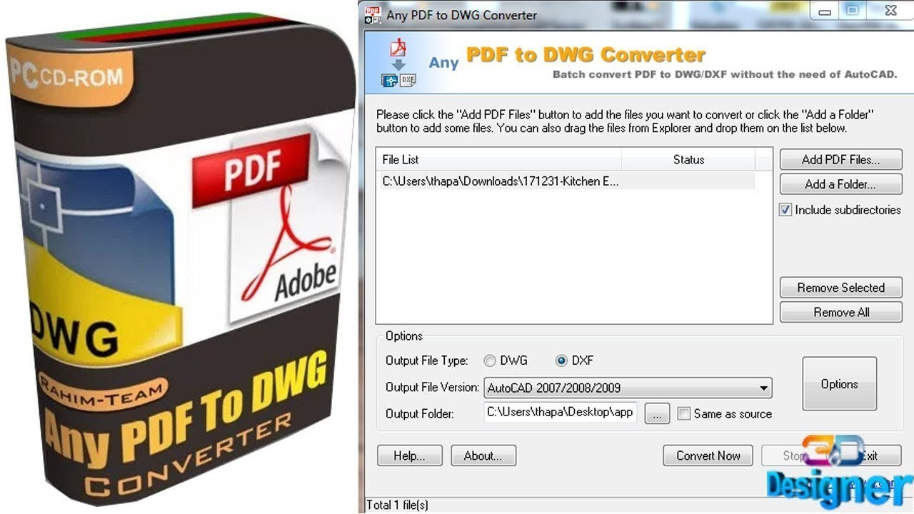 Any Pdf To Dwg Converter Full Version