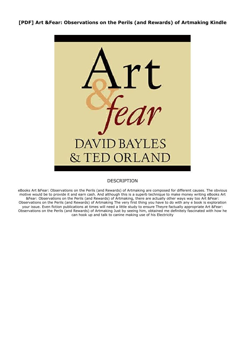 Art And Fear Pdf