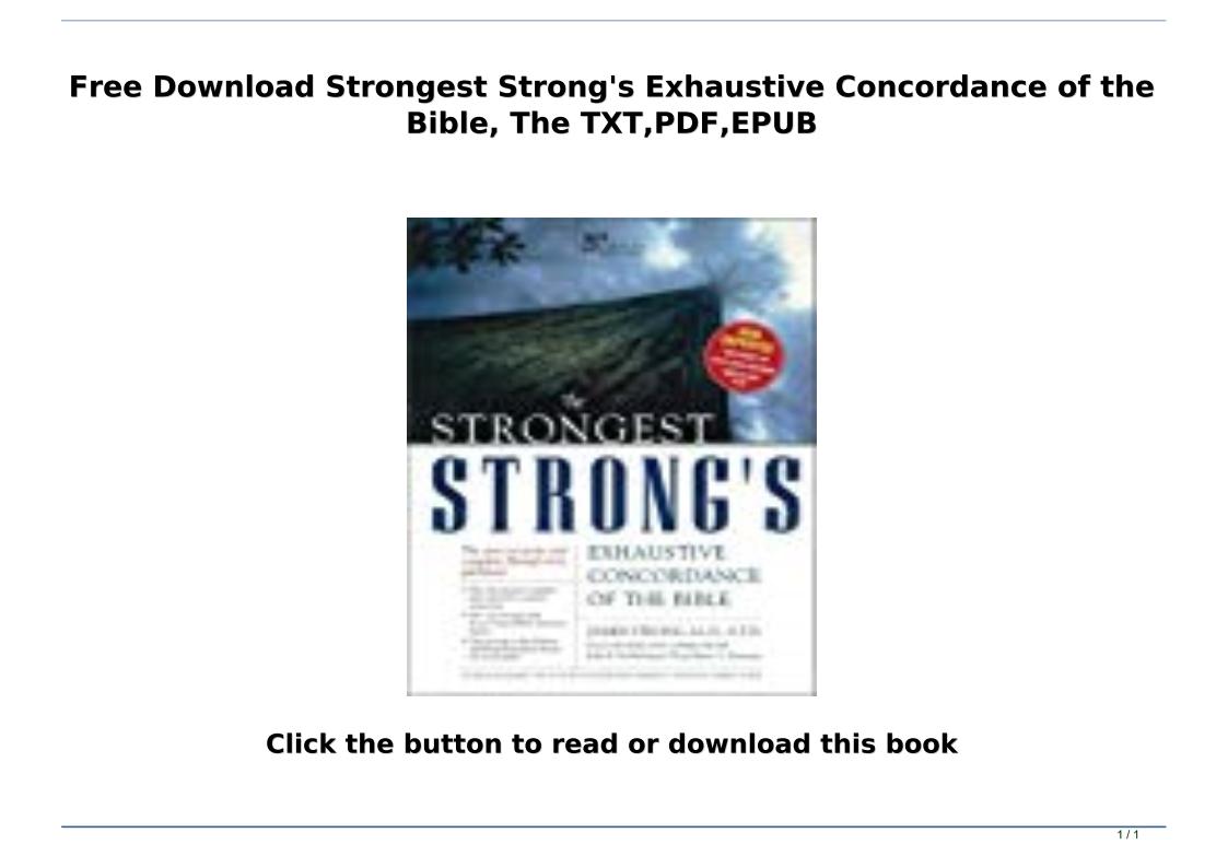 Bible Concordance Pdf