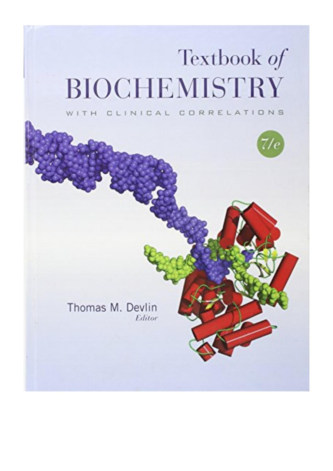 Biochemistry Textbook Pdf