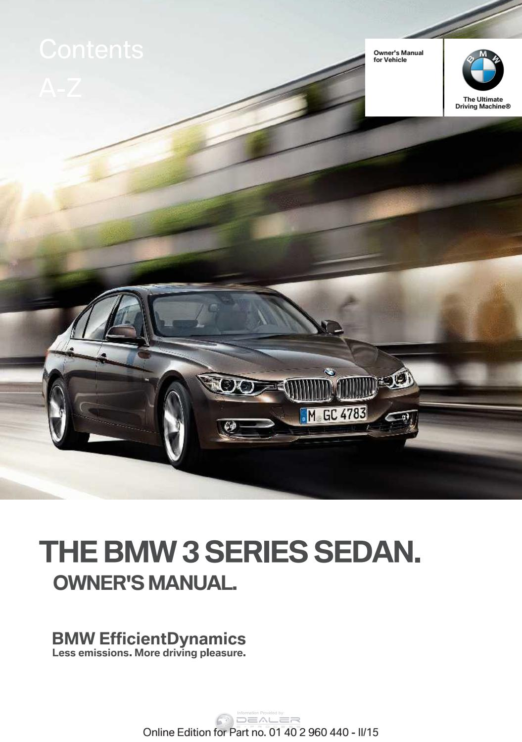 Bmw Owners Manual Pdf