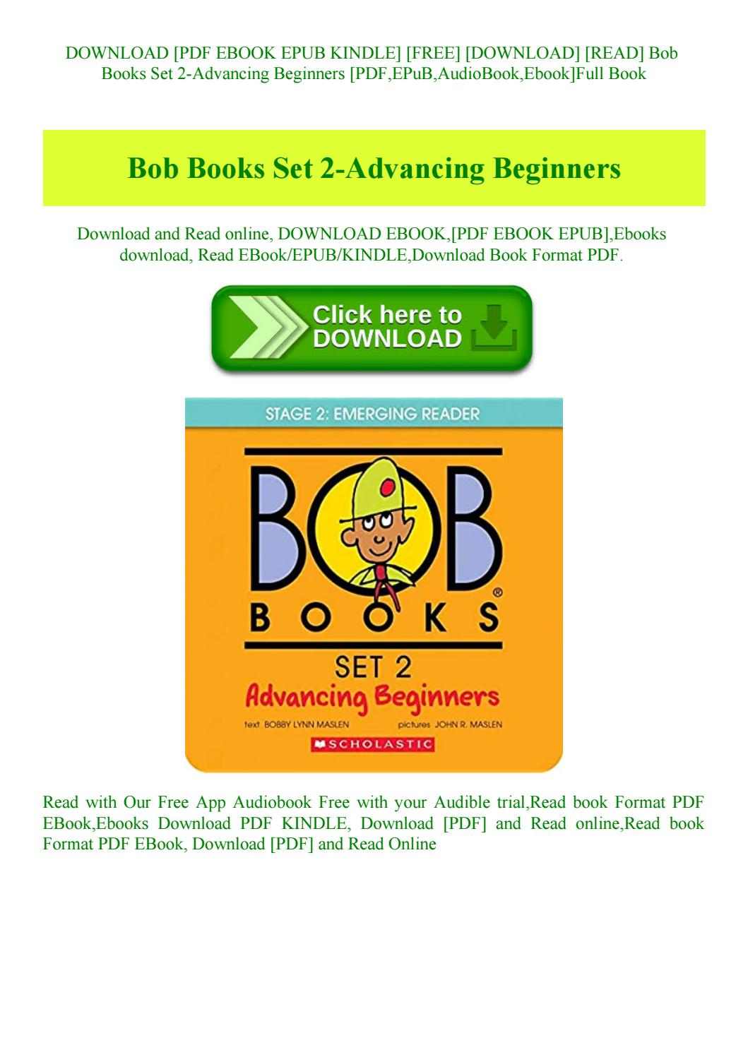 Bob Books Advancing Beginners Pdf