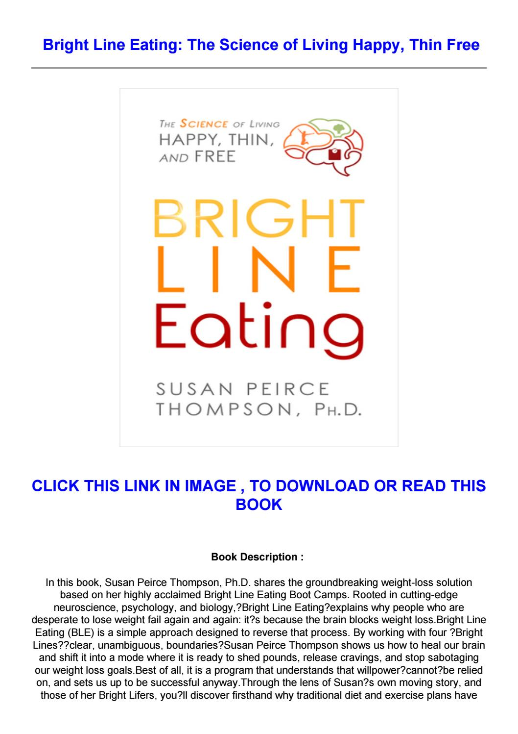 Bright Line Eating Pdf Free