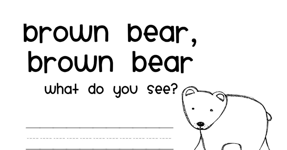 Brown Bear Mini Book Pdf