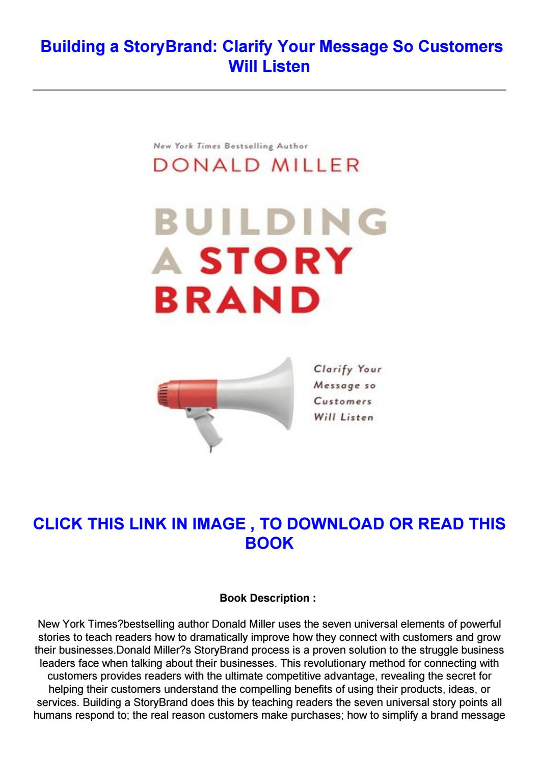 Building A Storybrand Pdf Download