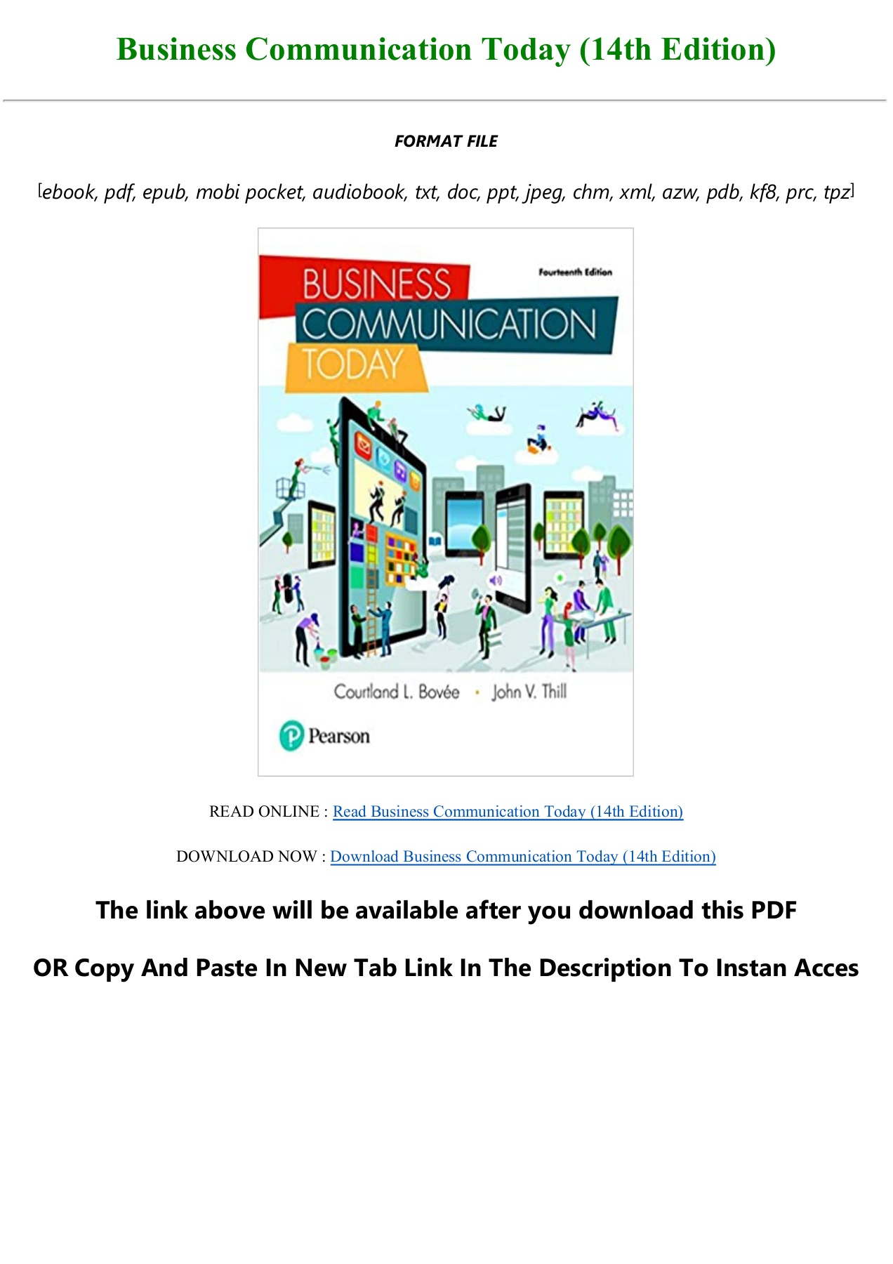 Business Communication Today 14th Edition Pdf Download