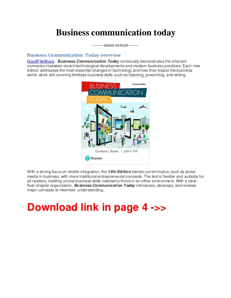 Business Communication Today 14th Edition Pdf Free