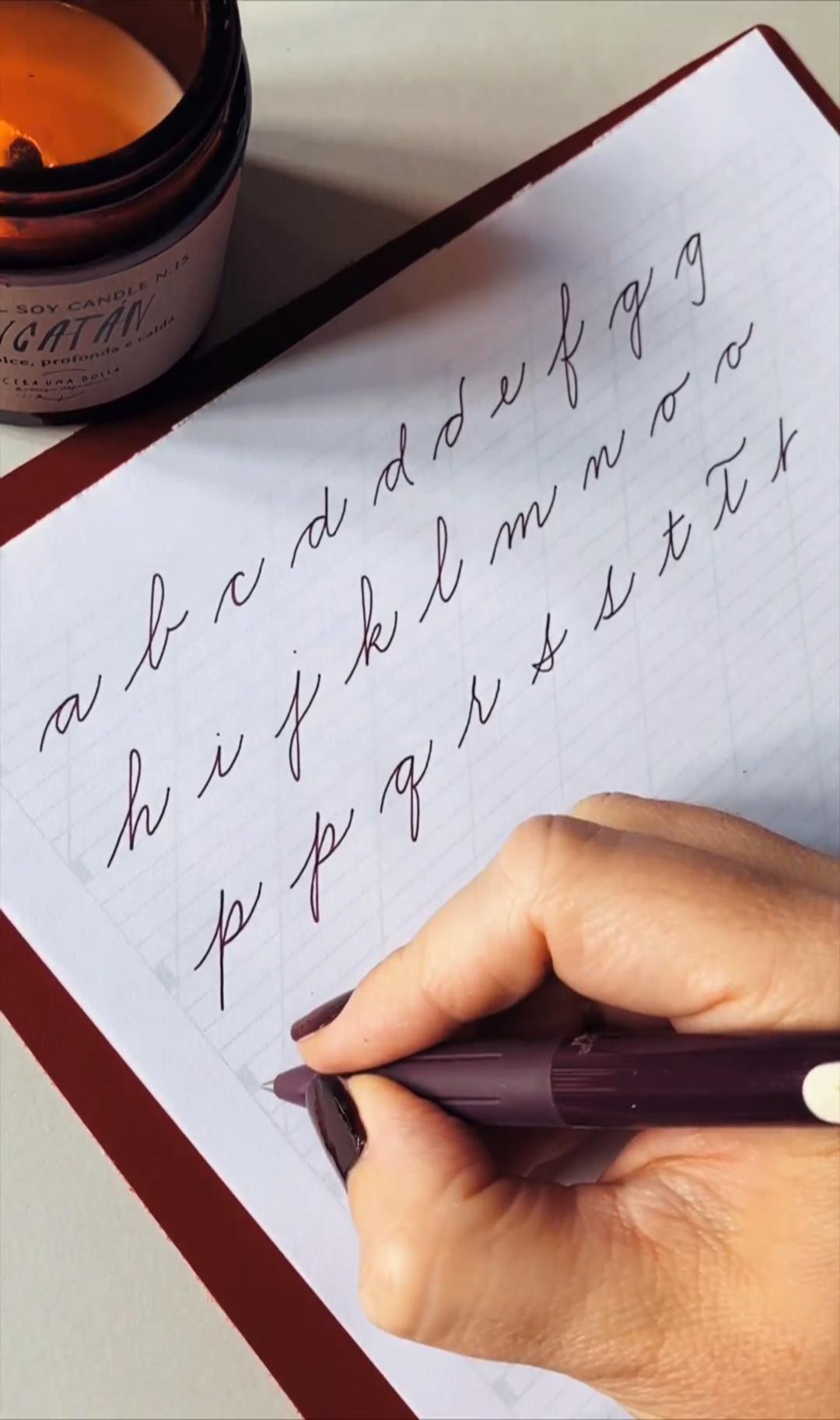 Calligraphy Cursive Handwriting Practice Pdf