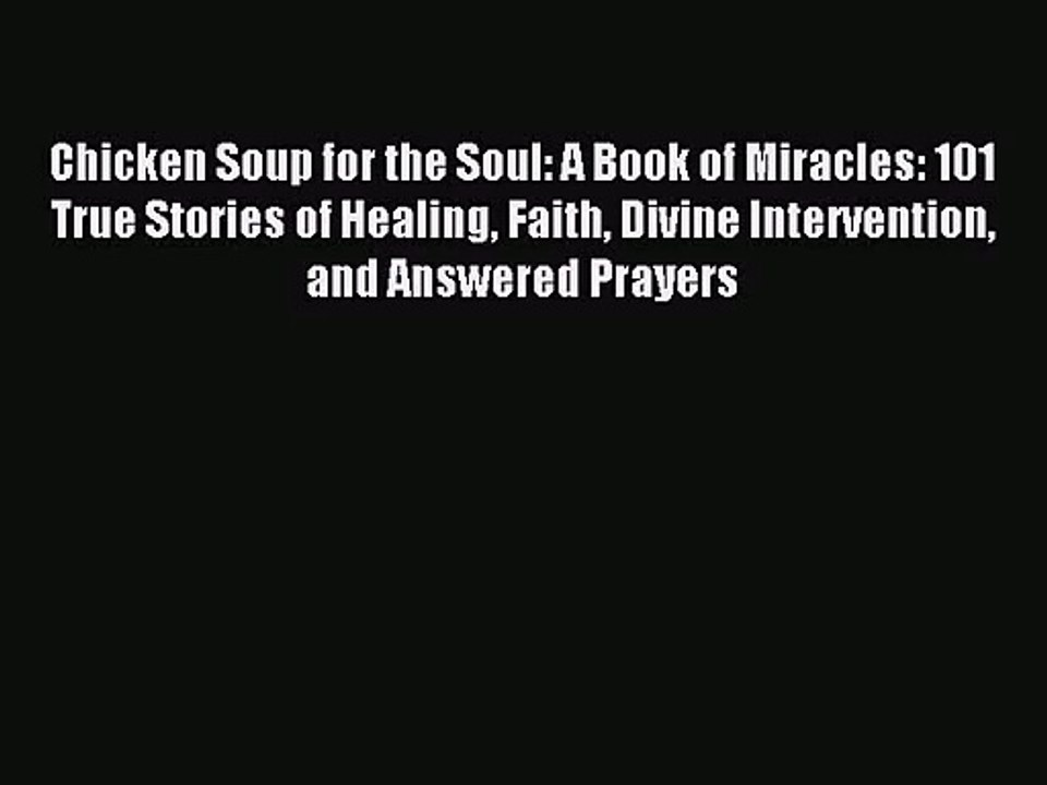 Chicken Soup For The Soul Pdf Book
