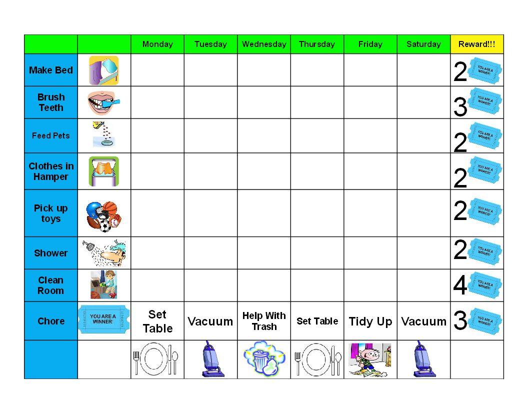 Chore Chart Pdf