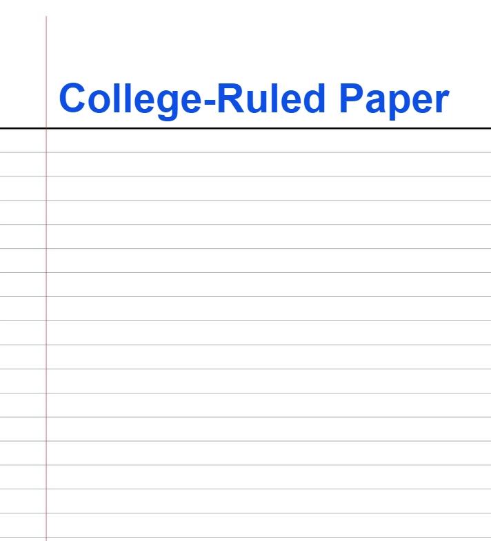 College Ruled Paper Pdf
