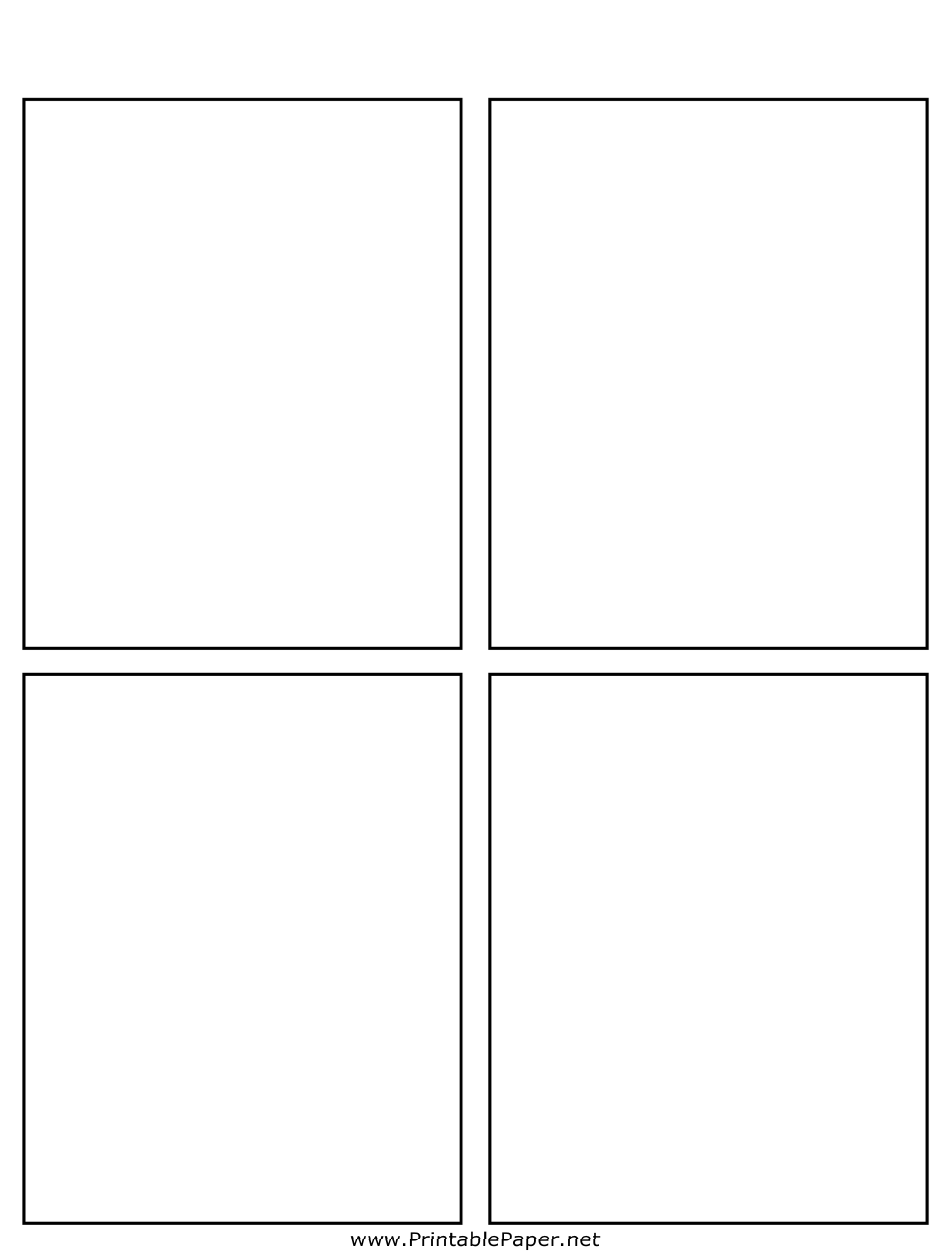 Comic Book Page Template Pdf