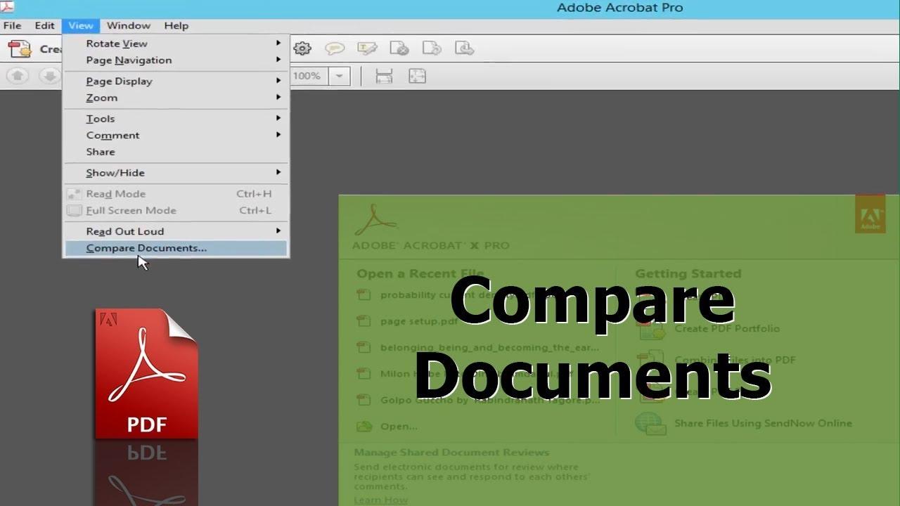 Compare 2 Pdf Files