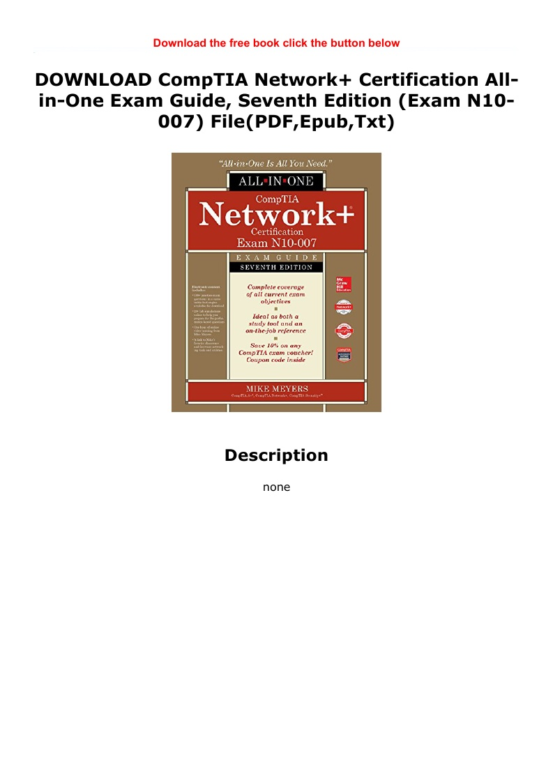 Comptia Network N10 007 Pdf Free Download