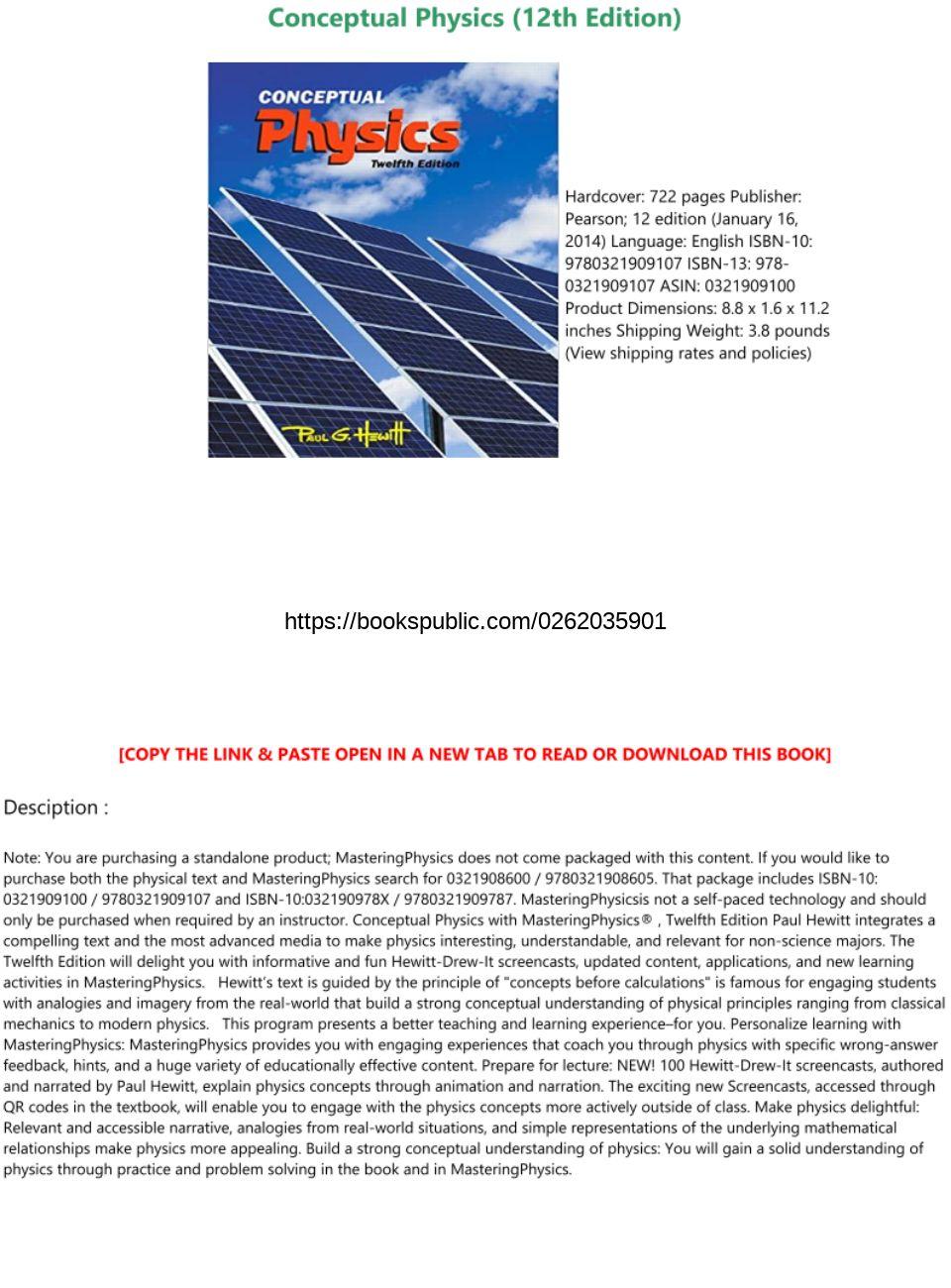 Conceptual Physics 12th Edition Pdf